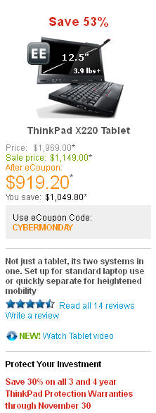 Cyber Monday Tech Deal No. 1